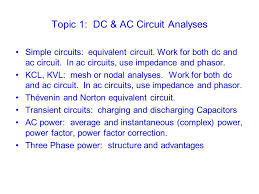 topic dc ac circuit analyses ppt  topic 1 dc ac circuit analyses