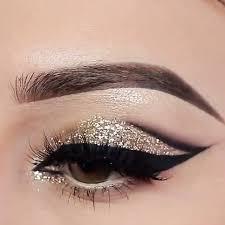 glitter gold and black eyemakeup stylexpert