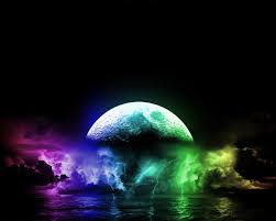 cool lightning backgrounds wallpaper a really cool and colorful moon and lightning