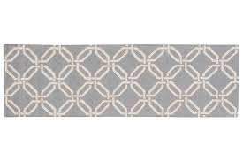 linear lin08 light blue runner rug