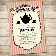 Tea Invitations Printable Classic Printable Bridal Shower Invitations Tea Party Ewbs054 As Low