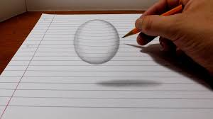 1280x720 3d easy painting by pencil how to draw a levitating ball