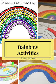 Rainbow Fine Motor Activities with Q-tip Painting