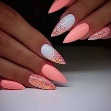 The Most Beautiful Almond Type Nail Art Kornelia Nowak Nehty V