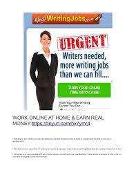 writing jobs work at home earn daily work online at home