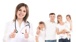 nurse white background family