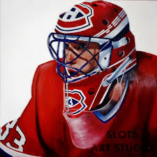 items similar to patrick roy king x oil on wood panel montreal canans goalie mask painting on