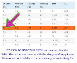 62 Unfolded Comfy Feet Size Chart