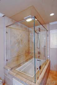 corner tub with dbl doors