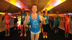 richard simmons workout 80s. surrounded by airline staff dressed in skimpy gym gear, simmons tells passengers: \u0027we\u0027re going to work hard, out and get you fit fly\u0027 richard workout 80s .