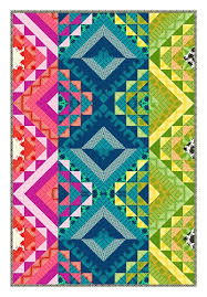True Colors quilt designed by Carl Hentsch. Fabric from Heather ... & Make a modern quilt from Heather Bailey's striking and bright True Colors  fabric collection. This lovely color wheel quilt is perfect for the couch,  ... Adamdwight.com