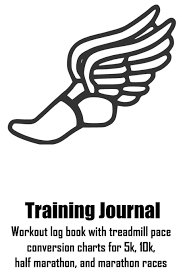 Training Journal Workout Log Book With Treadmill Pace