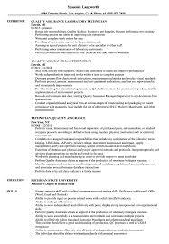 Technician Quality Assurance Resume Samples Velvet Jobs
