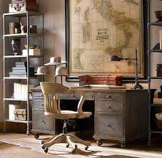 manly office. I Love Old Maps. And Rustic Rooms. That Swivel Chair Might Need Some Substituting Though . Good Starting Point For The Office Manly U