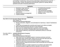 resume:Stunning Design Maintenance Resume 11 Best Industrial Maintenance  Mechanic Resume Example Stunning Professional Summary