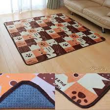 washable soft flat yarn using roommates cat puzzle black and beige 150 x 150 cm machine washable desk carpet girls desk mat carpet mat rug door mat kids