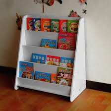 Shipping moving picture book shelf book rack white children in kindergarten  bookshelf Reading Magazine News Stand Floor-in Nightstands from Furniture  on ...