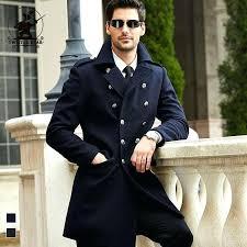 pea coat men whole brand new navy wool pea coat winter fashion high quality plus size pea coat men