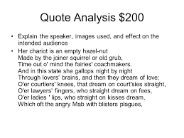 Romeo And Juliet JEOPARDY Quote Analysis CharacterizationLiterary Impressive Romeo And Juliet Quotes And Meanings