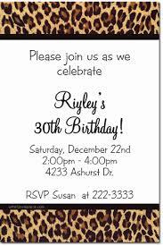 Animal Print Birthday Invitations Zebra Print Birthday Invitations