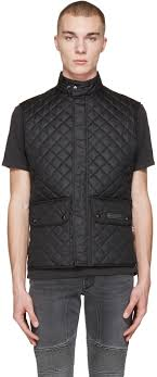 belstaff black quilted wasicoat vest men belstaff new york 100 genuine