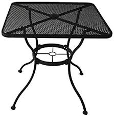 outdoor metal table. Interesting Table HeavyDuty Steel Frame With Black PowderCoated Finish Square Bistro  Restaurant Patio Outdoor Intended Metal Table N