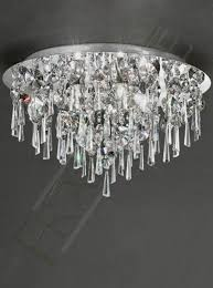 franklite lighting cf5720 5 light ip44 bathroom ceiling ceiling light in polished chrome with