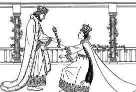 King Xerxes I Queen Esther Coloring Page Kids Play Color