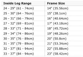 Amazon Co Uk Raleigh Size Guide