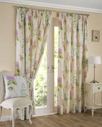 firenze fl printed lined ready made tape top pencil pleat curtains pair