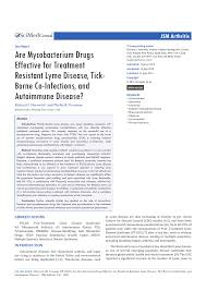 Pdf Are Mycobacterium Drugs Effective For Treatment