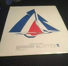 Vintage Americas Cup Poster 1977 Halliday Yachting And New