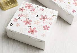 Decorative Cookie Boxes Small Pink Sakura Decoration Paper Box Cake Packaging Dessert Box 9