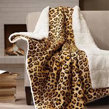 Leopard Print Blankets Throws