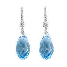 gold rhodium plated earrings guangdong xuping jewelry co ltd