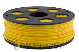 <b>ABS пластик</b> для 3D-принтеров Bestfilament. Цвет <b>желтый</b>. 1 кг. 1 ...