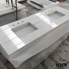 best white sparkle artificial quartz stone bathroom countertop