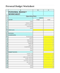 Expense Spreadsheet Templates Printable Budget Worksheet Free Word Excel Documents