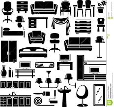 creative furniture icons set flat design. Furniture Icons Set Creative Flat Design