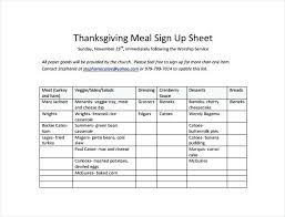 Sign Up Sheet For Thanksgiving Potluck Potluck Sheet Template Sign Up 5 Word Free Meetwithlisa Info