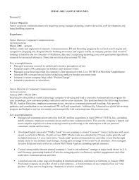 Sample Job Objectives In Resume Objective Resumes Career Objectives
