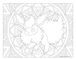 Small Picture 136 Flareon Pokemon Coloring Page Windingpathsartcom