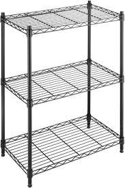 whitmor adjule 3 tier shelving with leveling feet black souq uae