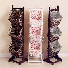 Living Room Magazine Holder Delectable 32 Magazine Rack Ground Living Room Receive Basket Real Wood The
