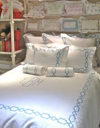 amazing monogrammed bedding set for bedroom design ideas with shelves and home acceesories