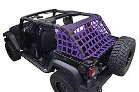 netting 3pc kit cargo sides for jeep jku 4 door purple