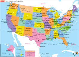 Us Map With States And Cities List Of Major Cities Of Usa