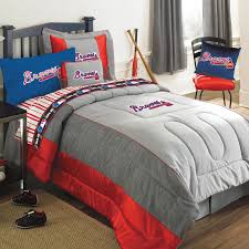 atlanta braves mlb authentic team jersey twin bedding set zoom