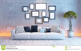 Frame For Living Room Living Room Interior Design With Concrete Wall And Picture Frame