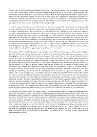 medea and feminism 3 cheryl fuller in her feminist essay